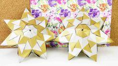 DIY Stern | flacher Bascetta Stern aus 21 Elementen mit 7 Zacken | 3D Stern basteln