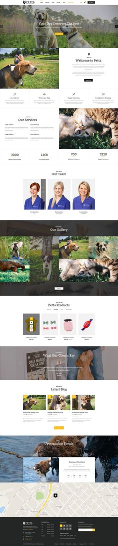 Petta – A clean and creative PSD Template which is best suited for #petcare #websites and #petshops. It was designed on 1170px grid system and made up to 24 well-organized PSD files. Petta will enable you to convert this #template to any CSM platform or HTML template easily.