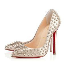 Pigalle Spikes Beige Specchio Laminato Shoes