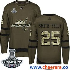 39fe7537a Adidas Washington Capitals Braden Holtby Green Salute to Service Stanley  Cup Final Champions Stitched NHL Jersey