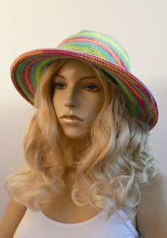 Summer hat Womens  Spring hat Beach hat Cotton hat Bucket #WomensHat #dosiakstyle #beachhat #Summerhat