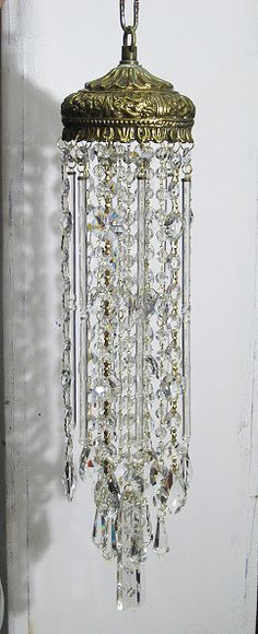 Vintage crystal wind chime / sun catcher. by Leah. sold.