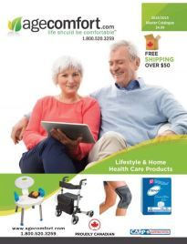 The Age Comfort Catalog is the premier online source for comfort products! Our growing line of comfort products includes Daily Living Aids, Mobility Aids, Incontinence, Vitamins & Supplements and Health Care Products. Free printed catalog or online catalog available on request.