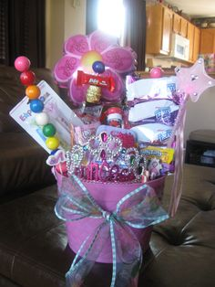 50 diy gift baskets to inspire all kinds of gifts towel cakes perfect gift for that special little girl in your life negle Choice Image