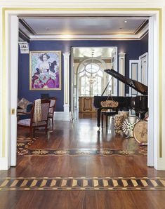 Highly Whimsical Victorian Channels Nights and Gaudí - Adventures in Interior Design - Curbed National Modern Victorian Decor, Victorian Interiors, Victorian Homes, Victorian Architecture, Victorian Era, Grand Piano Room, Glass Dining Room Table, Pretty Room, Floor Design