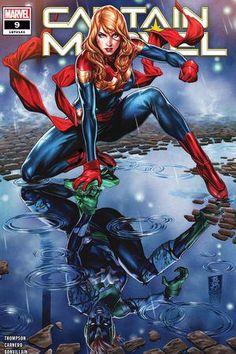 Rare Comic Books, Comic Books For Sale, Ms Marvel, Marvel Comics, Kelly Thompson, Captain Marvel Carol Danvers, Arte Dc Comics, Falling Stars, Marvel Entertainment