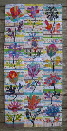 Kim McLeans Flower Garden quilt pattern Cabbage Quilts