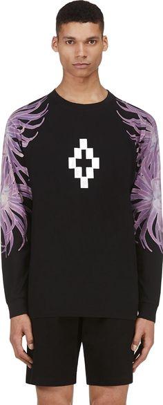 Marcelo Burlon County of Milan Black Anemone Graphic Lea T-Shirt
