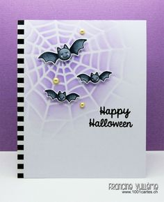 Happy Halloween card by Francine Vuilleme for Sunny Studio Stamps Birthday Blog Hop