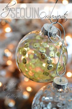 Make a diy Glass Christmas Ornament with Sequins - Mixed Metals in Gold and Silver