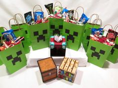 Minecraft Birthday Party Bags and Table Blocks by MKCDecorations, $20.99