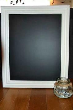 Fotolijst met krijtbord verf
