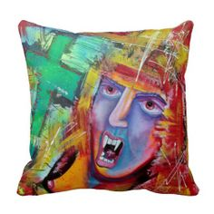 Aztec Vampire Pillow