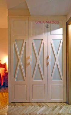 Abatible_14 Ideas Armario, Walk In Wardrobe, Closet Designs, Home Bedroom, Bedrooms, Closet Doors, Kids House, Built Ins, Sliding Doors