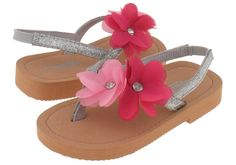 48cc56e412ddef Capelli New York Glitter patent thong with flowers Toddler Girls Flip Flops      Don t get left behind
