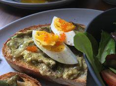 Avocado toast with hard boil egg