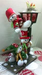Imagen relacionada Salt Dough Christmas Ornaments, Felt Christmas Decorations, Christmas Snowman, Holiday Decor, Paper Flowers Craft, Snowman Crafts, Christmas Projects, Advent, Snowmen