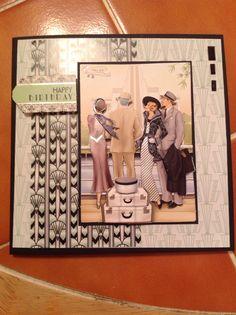 Docrafts Art Deco birthday card