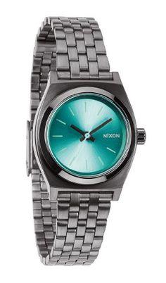 Nixon Blue Dial Gunmetal Polyurethane Ladies Watch A3991697 NIXON http://www.amazon.com/dp/B00GMEKYKY/ref=cm_sw_r_pi_dp_7hZ0tb1CSG38HM5C
