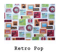 tela algodón Retro Pop