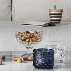 Iittala Kastehelmi Votives and bowls Shop Interiors, Marimekko, Timeless Elegance, Interior Accessories, Interiores Design, Scandinavian Design, Punch Bowls, Luxury Homes, Dinnerware