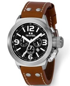 Features Chronograph, Date, Screwdown Crown, Mineral Crystal. Gents Watches, Watches For Men, Watch Model, Canteen, Brass Metal, Casio Watch, Watch Bands, Chronograph, Latte