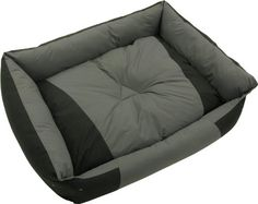 """$40.12-$56.49 Kakadu Pet Island Bolster Dog Bed, Small, 23"""" x 20 1/2"""" x 6"""", Midnight & Storm (Black & Gray) - The Island bed is a perfect oasis for your pet. With bolstered sides and a reversible inner cushion with alternate colors, the bed provides extra comfort and support for your pet while looking great in any home decor. It features an anti-slip design so the bed won't move across the floor. ..."""