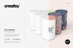 Tin Canister Mockup Set by creatsy2 on @creativemarket