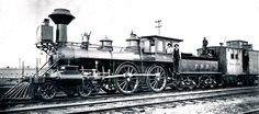 """Fitchburg Railroad 28 """"Belmont"""" was built by Hinkley in 1866, rebuilt in 1878 and scrapped before 1899."""