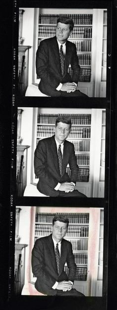 JFK was was very responsible during his presidency because he always concentrated on what would be good for his people. In the photo he looks serious because he's serious about his work being president. I chose this photo because i think it's cool how the camera also focused on his concentration being a president and not just on him being part of a perfect family.
