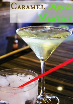 Caramel Apple Martini: 2 oz caramel flavored vodka, 2 oz apple pucker schnapps. Ice in a shaker and shake away