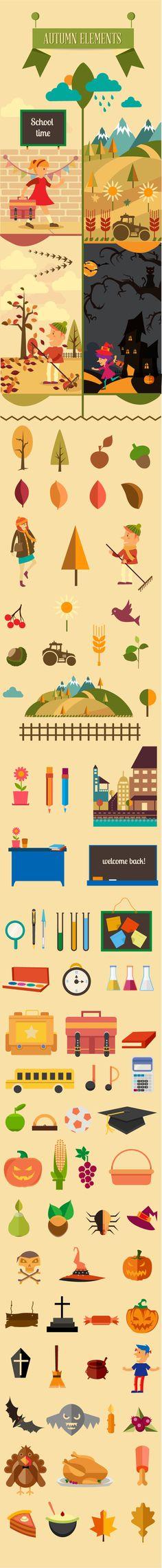 Summer/ Autumn elements by Adina Neculae, via Behance