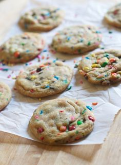 Brown Butter Confetti Cookies