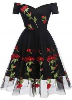 Black Party Dresses, Cute Dresses, Vintage Dresses, Short Sleeve Dresses, Short Sleeves, Dress Black, Casual Dresses, Dresses Dresses, Floral Dresses
