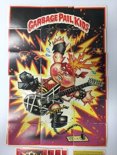 Garbage Pail Kids 2nd Series - Trading Cards 1985 (#7) Electric Guitar Dude