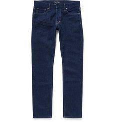 TOM FORD - Slim-Fit Washed-Denim Jeans