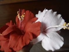 Howto make paper flower - Hibiscus - YouTube