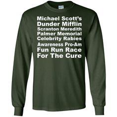 michael scott's dunder mifflin scranton meredith palmer memorial celebrity Rabies Awareness Pro-Am Fun Run Race For The Cure 3 LS Ultra Cotton Tshirt