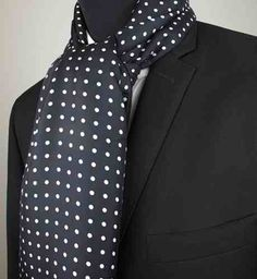 Want to look dapper then get a silk polka dot scarf.