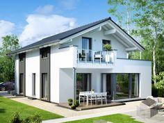 ➤ Finde eine große Auswahl an schlüsselfertigen Häusern und anderen Ausbaustufen auf ____ www.fertighaus.de ____ günstiges Haus, kostengünstig, Hausbau, Haus bauen, Hausvergleich, Fertighaus, Architektur, Satteldach