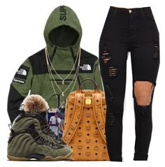 """i ain't tryna fall in luh"" by tanyabanks-101 ❤ liked on Polyvore featuring The North Face, Cole Haan and NIKE"