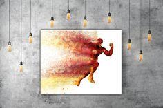 The Flash Superhero Printable Comic Decor, DC Flash Poster, Movie Print, Justice League Art, DC Comics, Barry Allen DC Art, Red Art by PRINTANDPROUD on Etsy