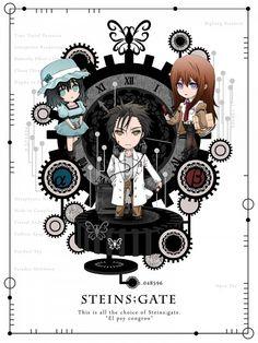 Tags: Anime, Nitro+, Steins;Gate, Makise Kurisu, Okabe Rintarou, Shiina Mayuri