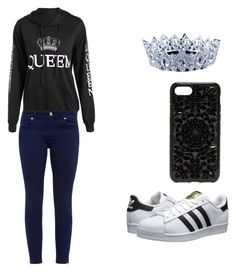 """""""Dark Fashion Queen"""" by carcar122204 ❤ liked on Polyvore featuring Ted Baker, adidas Originals and Felony Case"""