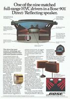 Bose 901 Loud Speaker 1980 Ad Picture