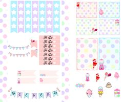 Dodo Charms: Candy Theme stickers Kit