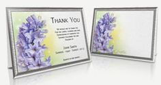 Funeral Programs Templates - Professional and Editable Thank You Card Sample, Sympathy Thank You Cards, Funeral Thank You Cards, Program Template, Templates, Store, Frame, Floral, Picture Frame