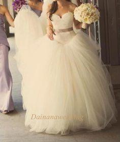 Princesse Sweetheart Sash dentelle et Tulle robe de mariée avec jupon intérieure