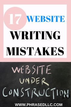 Website writing mistakes to avoid. 17 common writing mistakes and short video lessons and tips to fix them. #websitewritingmistakes #commonwritingmistakes #writingmistakes Creating A Portfolio, Creating A Blog, Run On Sentences, Nouns And Verbs, Professional Writing, Business Writing, Social Media Ad, Blog Topics, Find A Job