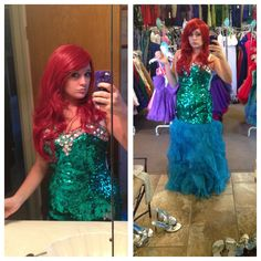Little mermaid (Ariel) Halloween costume!